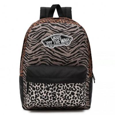 Mochila Vans Wm Realm Backpack Black Leopard Multi animal...