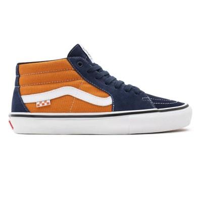 Zapatillas Vans Skate Grosso Mid Navy-Orange