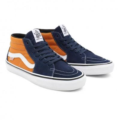 Zapatillas Vans Mn Skate Grosso Mid Navy-Orange