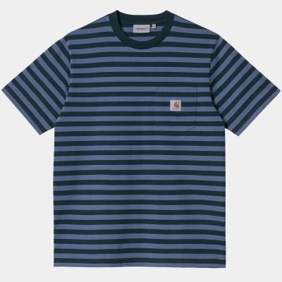 Camiseta Carhartt S-S Scotty Pocket T-Shirt Scotty Stripe...