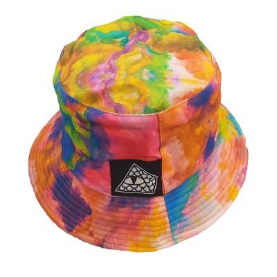 Gorro Bucket Reversible Reptilians Logo Tie Dye Multi