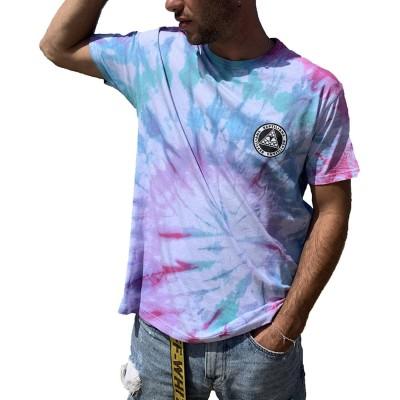 Camiseta Reptilians Logo Frontal Tie Dye
