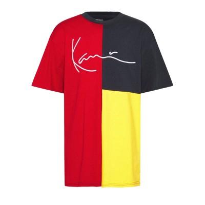 Camiseta Karl Kani Signature Block Tee red navy yellow