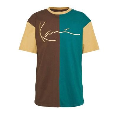 Camiseta Karl Kani Signature Block Tee brown petrol blue...