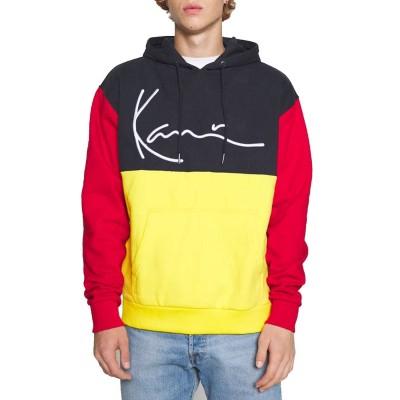 Sudadera Karl Kani Signature Block Teddy Hoodie yellow...