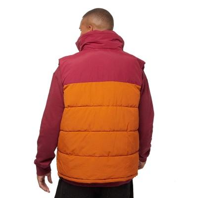 Chaleco Karl Kani OG Block Puffer Vest dark red ocher...