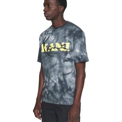 Camiseta Karl Kani Retro Tie Dye Tee white dark grey