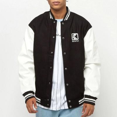 Chaqueta Karl Kani OG Fake Leather Block College Jacket...