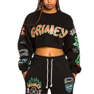 Sudadera croptop Grimey Destroy All Fear Girl Crop...