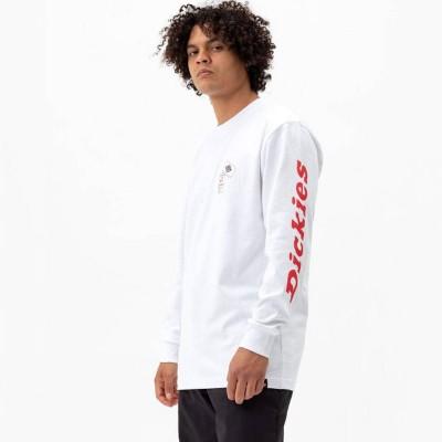 Camiseta manga larga Dickies Jf Graphic Ls Tee Blanco White