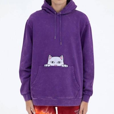 Sudadera RipNDip Peeking Nermal Emb Hoodie Morada Purple