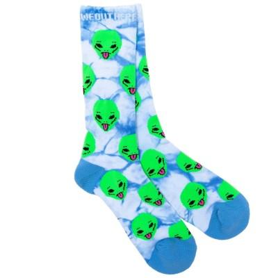 Calcetines RipNDip We Out Here Socks Azul Aqua