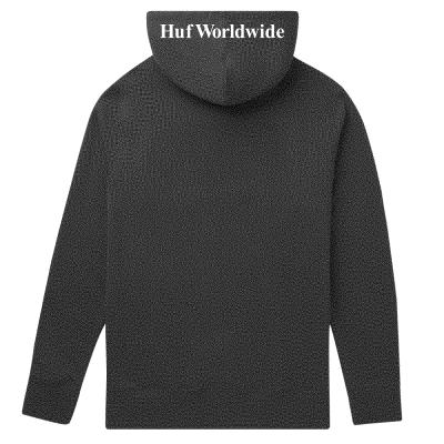 Sudadera Huf Essentials Box Logo P-O Hoodie Negra Black