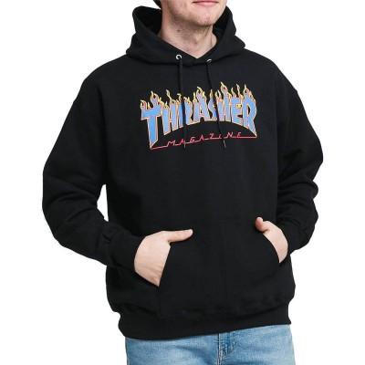 Sudadera Thrasher Flame Logo Black-Blue