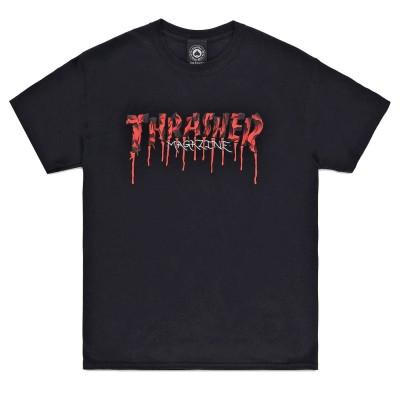 Camiseta Thrasher Blood Drip Logo Black