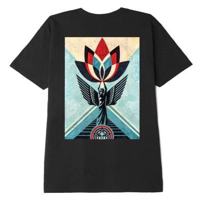 Camiseta OBEY Obey Lotus Angel Canvas Negra Black