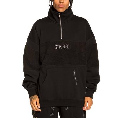 Sudadera Grimey Jazz Thing High Neck Sweatshirt  Negro Black